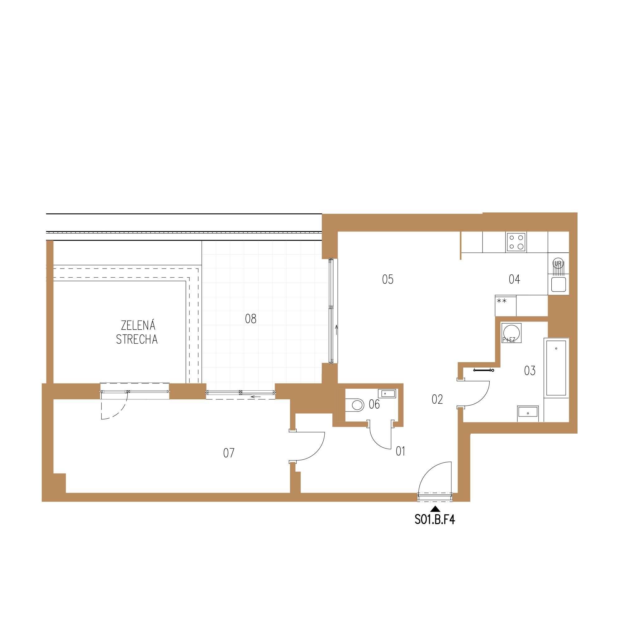 pôdorys bytu